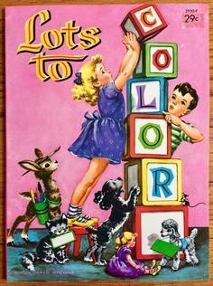 127 Best vintage coloring books + crayons images | Vintage coloring ...
