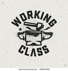 Working Class Logo.Hammer and anvil.
