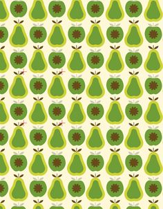 ORLA KIELY, APPLES AND PEARS PRINT... pinned by Liberhada ♥