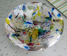 gorgeous fused glass bowl by Chris1