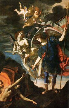 Jacopo Vignali, San Michele Arcangelo libera le anime del purgatorio
