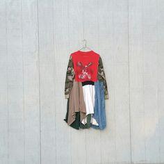 Patriotic USA upcycled boho lagenlook romantic dress Upcycled clothing Patchwork Dress Funky Tunic Dress / Eco / Artsy by CreoleSha by CreoleSha on Etsy