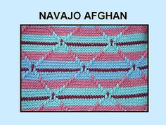Free Crochet Pattern - Navajo Indian Afghan from the Afghans Free