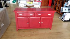 Sideboard in Authentico Passion Red for one of our clients. Old Furniture, Painted Furniture, Chalk Paint, Sideboard, Buffet, Passion, Cabinet, Storage, Red