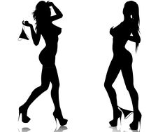 Girl Silhouette | Girls Silhouettes | Stress Effect
