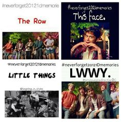 #Neverforget20121Dmemories Music Videos!