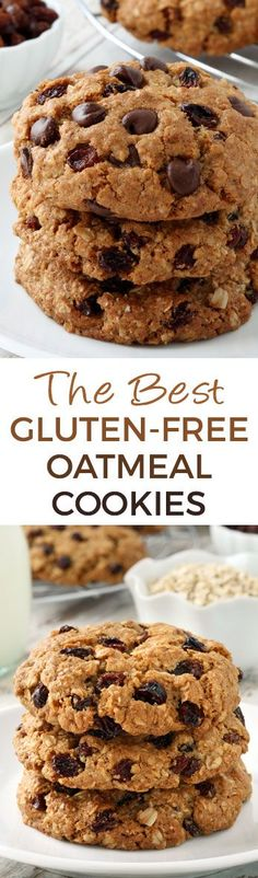 "These paleo ""oatmeal"" cookies (also known as n& cookies) are crisp wi. These paleo ""oatmeal"" cookies (also known as n& cookies) are crisp with a chewy center and taste just like classic oatmeal raisin cookies! Recipe has a vegan option and video. Paleo Baking, Gluten Free Baking, Gluten Free Desserts, Vegan Desserts, Baking Recipes, Vegan Oatmeal Cookies, Paleo Oatmeal, Gluten Free Oatmeal, Paleo Cookie Recipe"