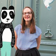 Meet Maïa, our lovely graphic designer ^^ #streetfrench