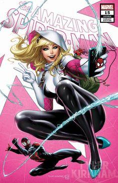 Amazing Spiderman 15 Kirkham Spider-Gwen She-Venom Spider-Woman Variant Set NM Marvel Comic Universe, Marvel Girls, Comics Girls, Marvel Heroes, Marvel Avengers, Les Innocents, Marvel Spider Gwen, Pawer Rangers, Mary Janes