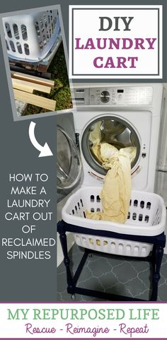 make your own laundry cart MyRepurposedLife.com