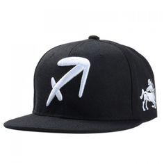6.62$  Buy here - http://di9dr.justgood.pw/go.php?t=171523801 - Stylish Zodiac Sagittarius Logo Shape Embroidery Black Baseball Cap For Men