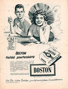 Boston - 1956 Old Ads, Historian, Finland, Retro Vintage, Nostalgia, Childhood, Memories, Movie Posters, Spirit