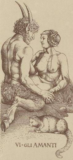 """templeofapelles: """"carte Albrecht Durer Tarot VI.  The Lovers """""""