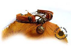 Bracciale Halloween zucca braccialetto uomo donna pelle infinito , by «:::Mosquitonero Shop:::», 6,90 € su misshobby.com