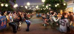 Final Design Concepts Unveiled for Arizona's Mesa City Center  Зробити вечірній з людбми і освітленням