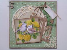 Trijntjes Kaarten: januari 2013 Marianne Design Cards, Bird Cage, Spring Time, Cardmaking, Advent Calendar, Stamp, Holiday Decor, Images, Inspiration