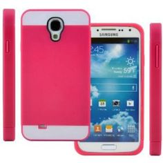 CellJoy Hybrid TPU 2PC Layered Hard Case Rubber Bumper for Samsung Galaxy S4 SIV (At&t / Verizon / US Cellular / Sprint / T-Mobile / Unlocked) [CellJoy Retail Packaging] (Hot Pink Fuschia / White)