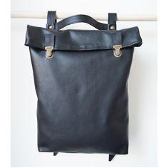 d2912dc9a2 15 or 17  Leather Backpack   Leather Rucksack   Messenger   Laptop bag   Women  Black backpack   Minimalist  Macbook bag  Office bag  Laptop