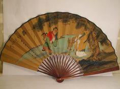 Vintage Oriental Fan $30 www.velvetandshag.com
