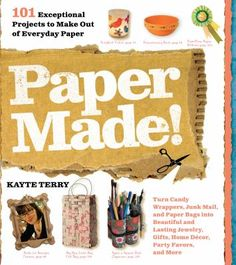 """Shows how to turn candy wrappers, junk mail and paper bags into beautiful and lasting jewelry, gifts, home decor, party favors and more."""
