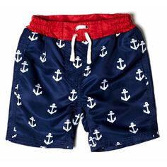 Your little guy will love this anchor print boardshort. Double side pockets, front drawstring and UPF protective fabrication combine comfort with laidba...