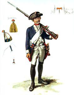SOLDIERS- Menzel: SYW- Prussia: Prussian Infantry Regiment Alt-Braunschweig No 5, by Adolph Menzel.