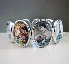 DIY ! make your own photo strectch bracelet ! I want to personalize with pics of my mom and grandma.