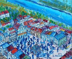 """ArtGalery ° PERSONALART.PL tytuł: """"Kazimierz nad Wisłą"""" autor: Edward Dwurnik personalart.pl/Edward-Dwurnik"""