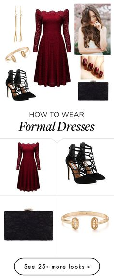 """""""Red Lace"""" by paoladouka on Polyvore featuring Steve Madden, Kenneth Jay Lane, Chesca and Kendra Scott"""