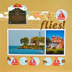 Life & Memories: Simple Scrapper October Challenge -  This has good horizontal band idea for some variety in your pages.