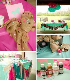 Horse Party Ideas #horse #art #party #ideas #supplies #decorations #cake #girl