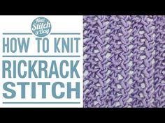 The Rickrack Stitch :: Knitting Stitch #136 :: New Stitch A Day