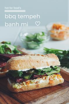 bbq tempeh banh mi sandwich #vegan | RECIPE on hotforfoodblog.com