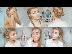 ▶ 4 Cute Braid Back To School Hairstyles - YouTube