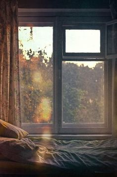 light through the window, a soft bed Relax, Window View, Open Window, Window Art, Window Seats, Through The Window, Morning Light, Where The Heart Is, My New Room
