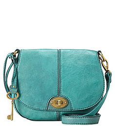 "Fossil ""Carson"" Flap Cross-Body Bag 
