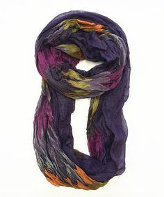 Another great find on #zulily! Purple Flame Infinity Scarf by East Cloud #zulilyfinds