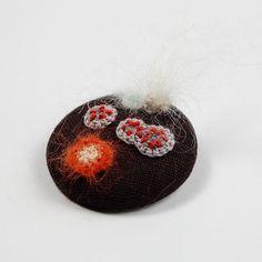 Bacteria brooch with crochet moulds ~ ELINtm