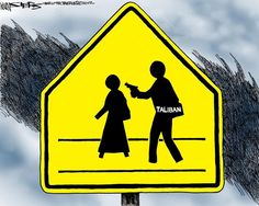 Taliban School Crossing Sign