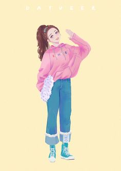 Pretty Anime Girl, Beautiful Anime Girl, Cartoon Kunst, Cartoon Art, Cute Sketches, Cute Cartoon Girl, Girly Drawings, Cute Icons, Fashion Design Sketches