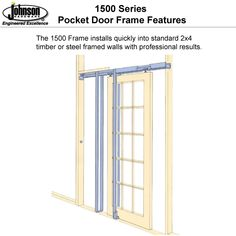 Johnson Pocket Door Frame Photos
