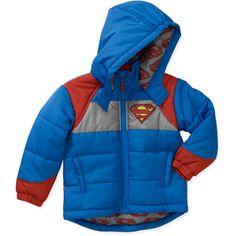 DC Comic's Baby Boys Superman Hooded Winter Jacket