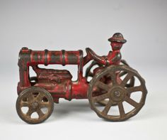 1930's hubley cast iron tractor