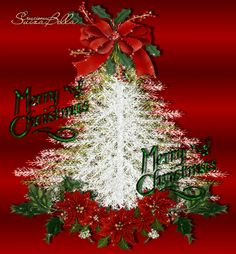 Merry Christmas & Happy New Year Animated Christmas Tree, Merry Christmas Gif, Merry Christmas Pictures, Christmas Scenery, Christmas Past, Vintage Christmas Cards, Christmas Greetings, Winter Christmas, Christmas Wreaths
