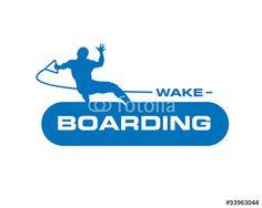 Vector: wakeboarding logo