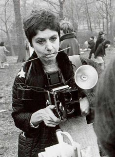 The great American photographer, Diane Arbus, b. March 14, 1923 - death by suicide at age 48 in 1971… Photo of Arbus at work in Central Park...
