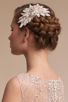 Swarovski Crystals Joelle Comb From Bhldn Bridal Hairstyles With Braids Wedding Hairstyles Hairdos