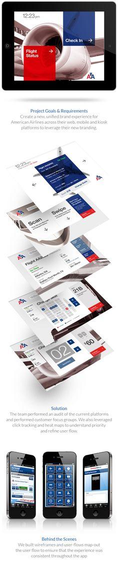 American Airlines Web & Mobile Kiosk on Behance