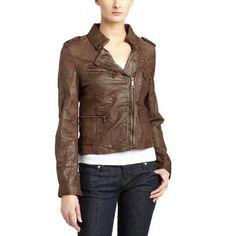 handmade women brown Leather Jacket women brown by ukmerchant ...