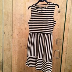 """Fun Striped Everyday Dress Striped dress from small boutique in LA. Stretchy & comfortable. Small zipper in back. 32"""" shoulder to hem. Monteau Los Angeles Dresses"""